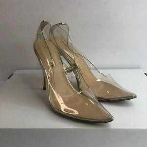 Liliana Clear and Silver heels 11M